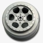 Trinidad SC Wheels - Team Associated SC10 Rear - Silver - (2)