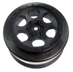 Trinidad SC Wheels - Team Associated (+3mm Offset) SC10 RS / 4x4 - Black - (2)