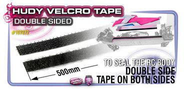 Hudy Velcro Tape with Double Sided Tape 8x500mm - 107872