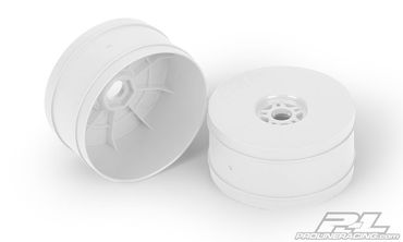 Lightweight Velocity White Front or Rear Wheels (4) for 1:8 Buggy