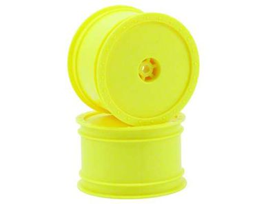 Borrego Buggy Wheels - TLR 22 Rear / AE B4 Rear (w/Hex Conversion) - Yellow - (2)