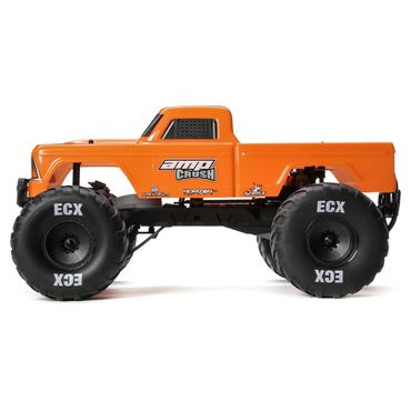 ECX 1/10 Amp Crush 2WD Monster Truck Brushed RTR, Orange