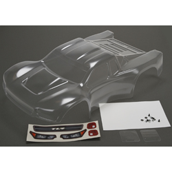 TLR230005 - BODY SET, CLEAR, W/STICKERS: 22SCT 2.0/3.0