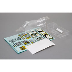 TLR330000 - Cab FWD Body & Wing Set, Clear w/Stickers 22 2.0