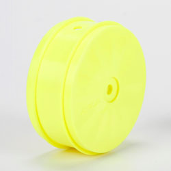 TLR43014 - 61mm Front Wheel, 12mm Hex, Yellow (2): 22-4