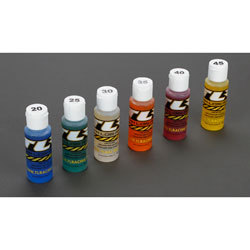 TLR74020 - Shock Oil 6Pk, 20,25,30,35,40,45, 2oz
