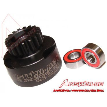 Answer-RC - 15t, 16t or 17t Vented Clutch Bell With 2 x 5*12 Bearings