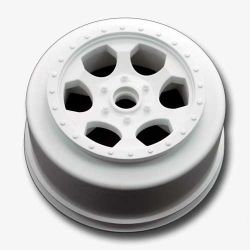 "DE Racing ""Trinidad"" SC Wheels for Team Losi XXX-SCT - XXX-SCB (With Bearing) / Front / WHITE"